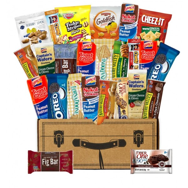 Bags, Bars, Cookies & Crackers Snack Box (25 Count)
